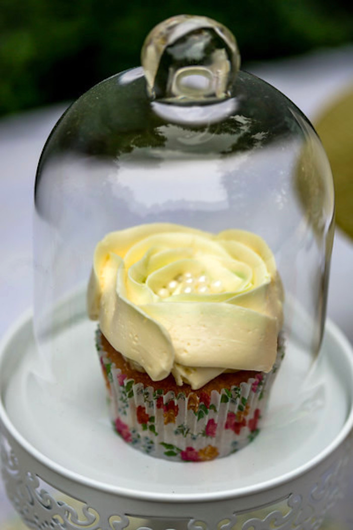 Flower cupcake from a Garden Tea Birthday Party on Kara's Party Ideas | KarasPartyIdeas.com (16)