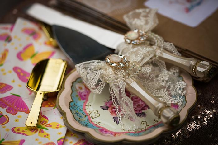 Cake serving set from a Garden Tea Birthday Party on Kara's Party Ideas   KarasPartyIdeas.com (8)