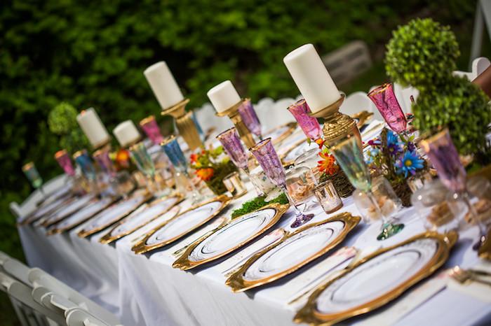 Tablescape from a Garden Tea Birthday Party on Kara's Party Ideas | KarasPartyIdeas.com (4)