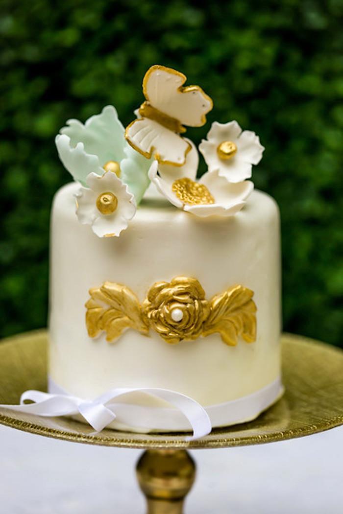 Mini cake from a Garden Tea Birthday Party on Kara's Party Ideas   KarasPartyIdeas.com (19)