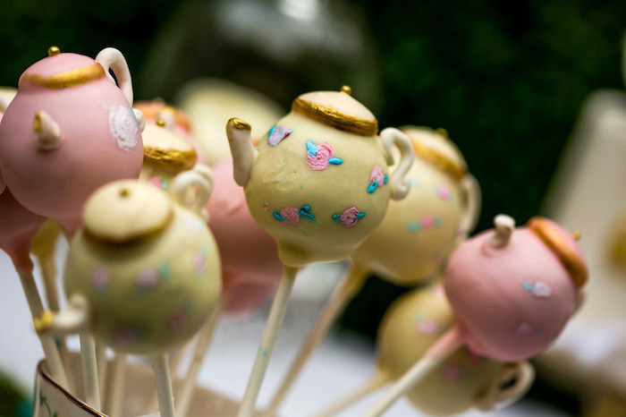 Tea kettle cake pops from a Garden Tea Birthday Party on Kara's Party Ideas | KarasPartyIdeas.com (18)
