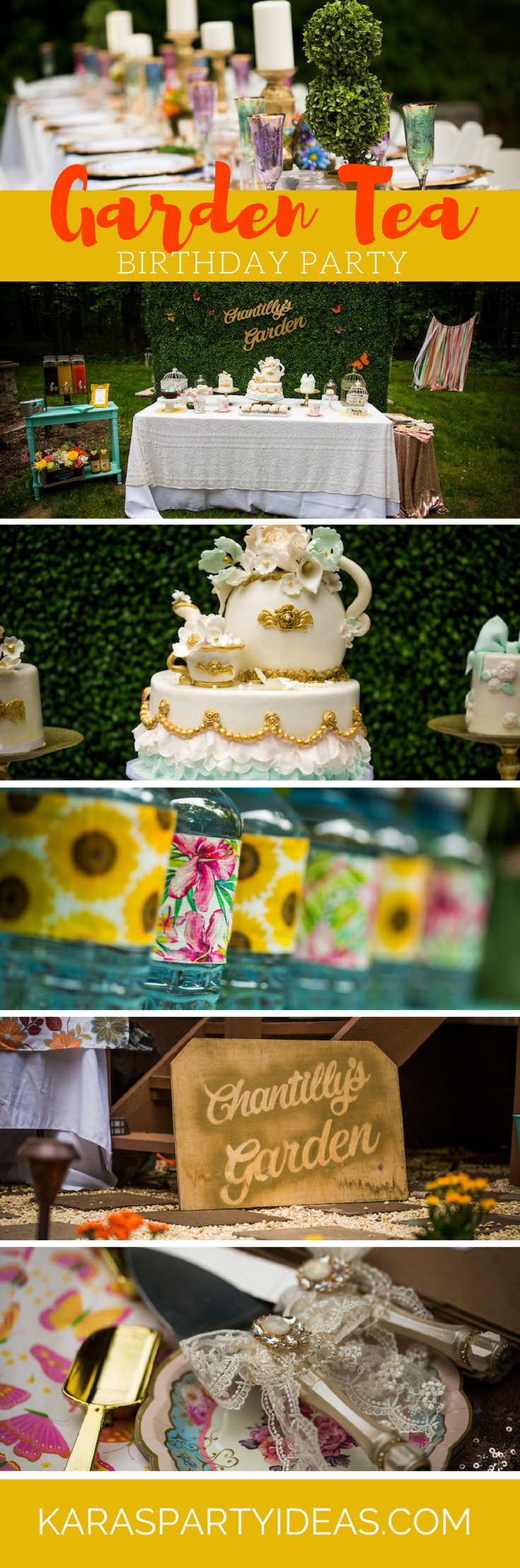 Garden Tea Birthday Party via Kara's Party Ideas - KarasPartyIdeas.com