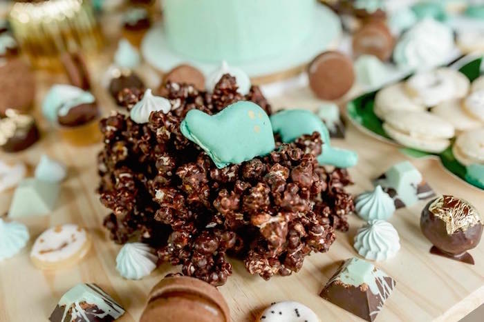 Mud dessert cluster from a Glam Rustic Dinosaur Birthday Party on Kara's Party Ideas | KarasPartyIdeas.com (9)