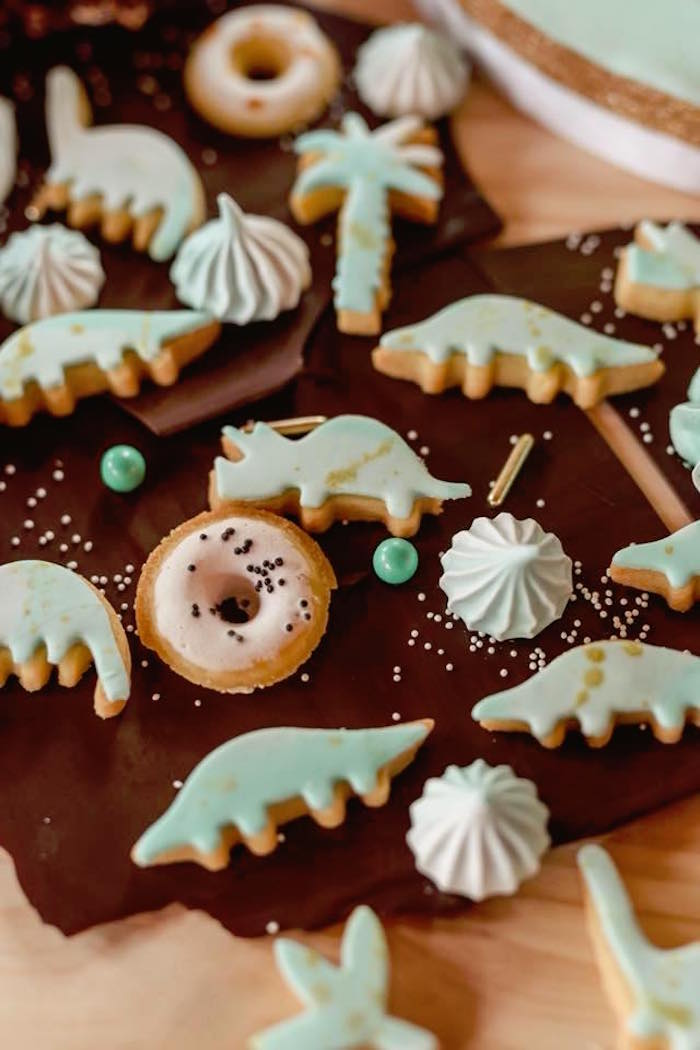 Cookies and sweets from a Glam Rustic Dinosaur Birthday Party on Kara's Party Ideas | KarasPartyIdeas.com (23)