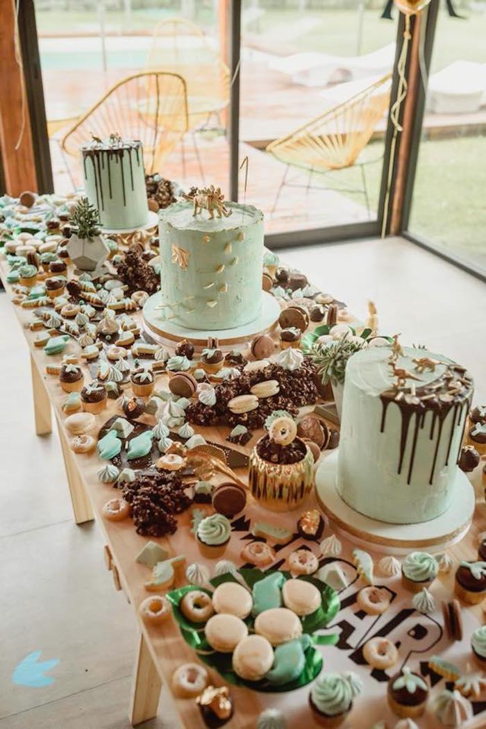 Kara s party ideas glam rustic dinosaur birthday