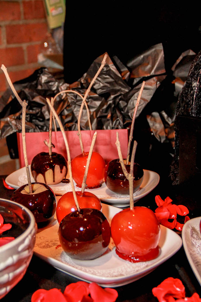 Candied apples from a Halloween Baby Shower on Kara's Party Ideas | KarasPartyIdeas.com (14)