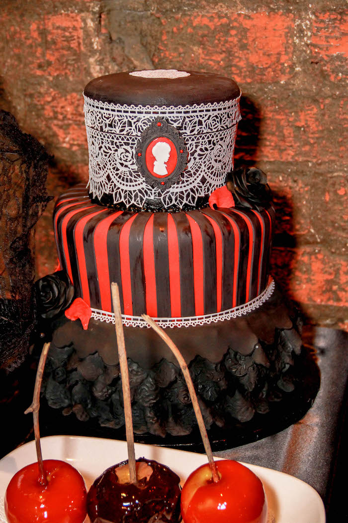 Cake From A Halloween Baby Shower On Karau0027s Party Ideas    KarasPartyIdeas.com (20