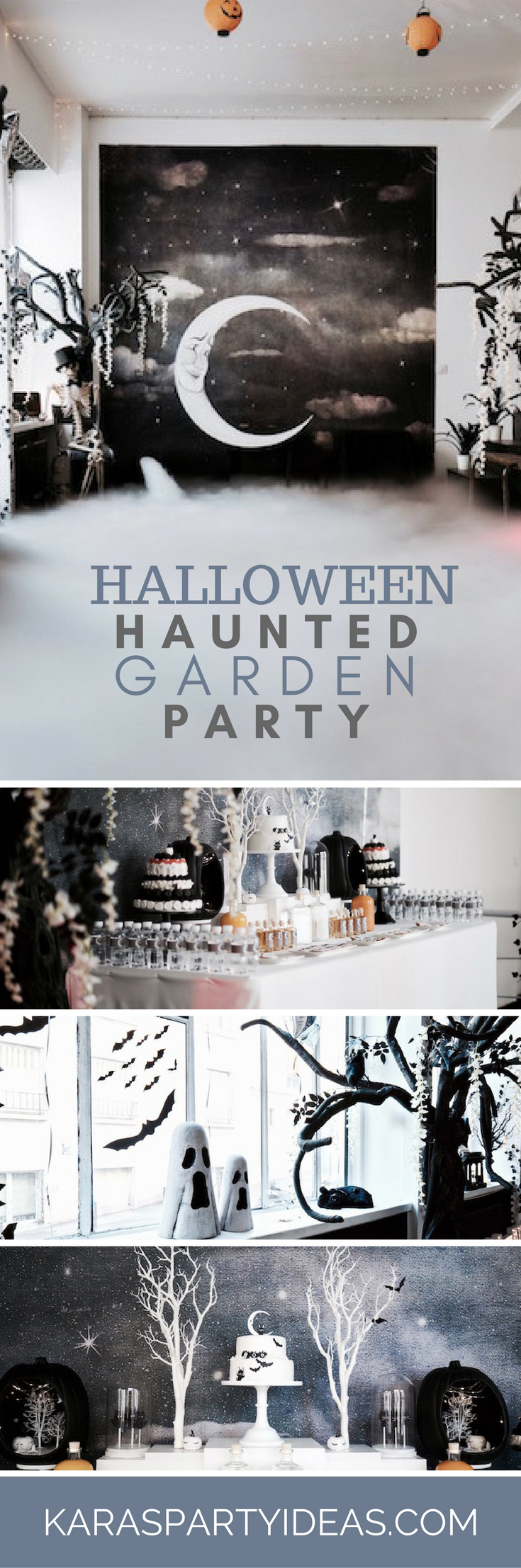 Halloween Haunted Garden Party via Kara's Party Ideas - KarasPartyIdeas.com