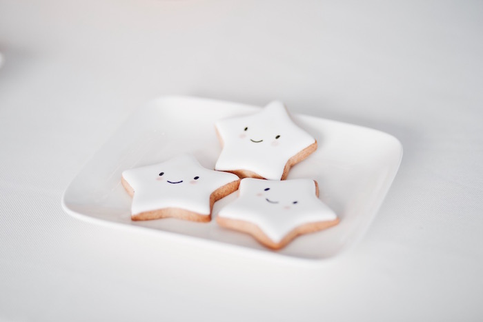 Star cookies from a Halloween Haunted Garden on Kara's Party Ideas | KarasPartyIdeas.com (39)