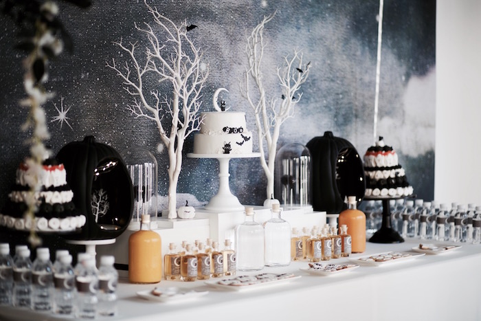 Sweet table from a Halloween Haunted Garden on Kara's Party Ideas | KarasPartyIdeas.com (34)