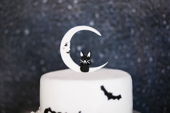 Cake top from a Halloween Haunted Garden on Kara's Party Ideas | KarasPartyIdeas.com (24)