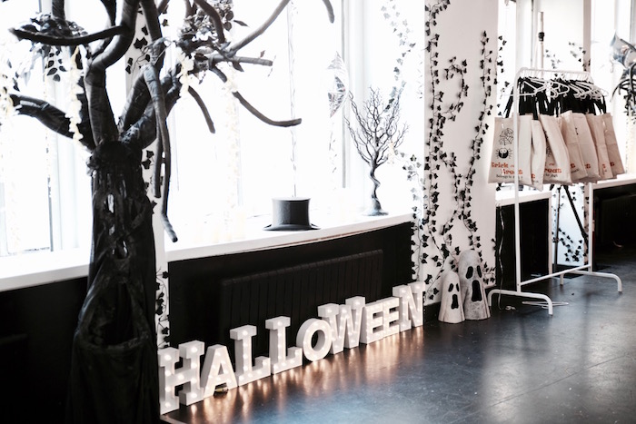 Decor and setup from a Halloween Haunted Garden on Kara's Party Ideas | KarasPartyIdeas.com (20)
