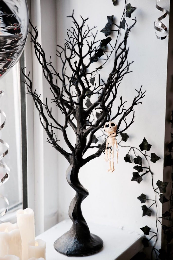 Tree decoration from a Halloween Haunted Garden on Kara's Party Ideas | KarasPartyIdeas.com (18)