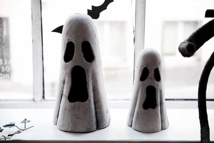 Ghost decorations from a Halloween Haunted Garden on Kara's Party Ideas | KarasPartyIdeas.com (16)