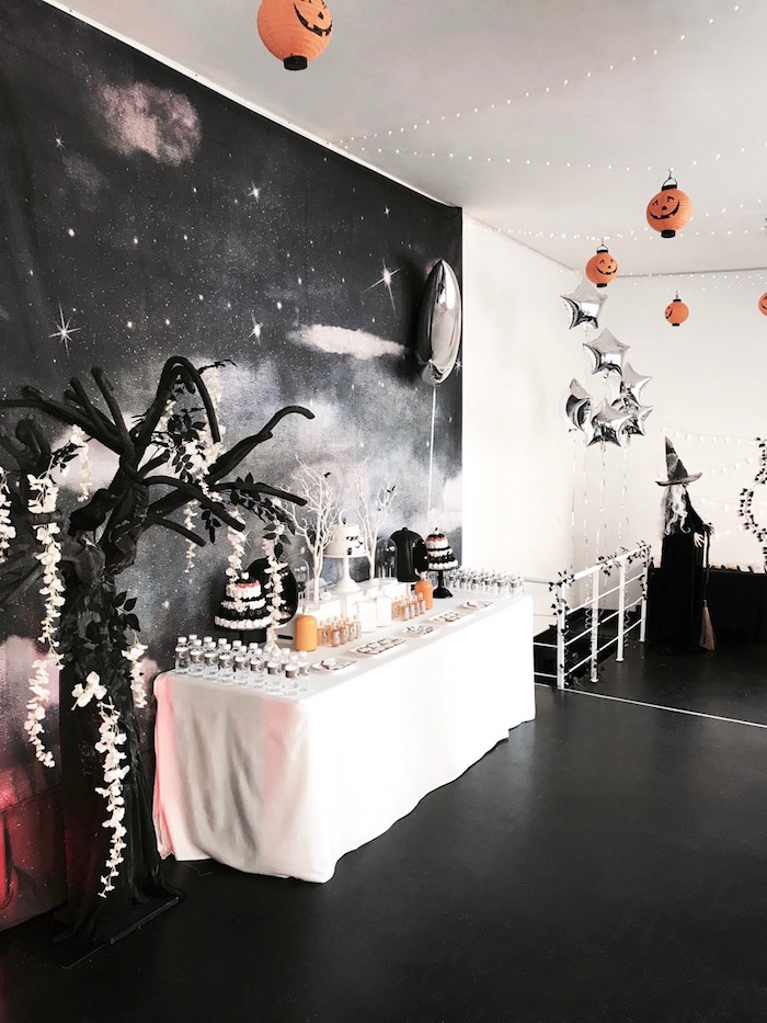 Dessert table from a Halloween Haunted Garden on Kara's Party Ideas | KarasPartyIdeas.com (9)