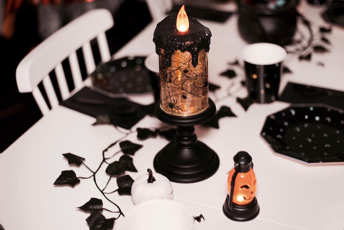 Table lanterns from a Halloween Haunted Garden on Kara's Party Ideas | KarasPartyIdeas.com (4)