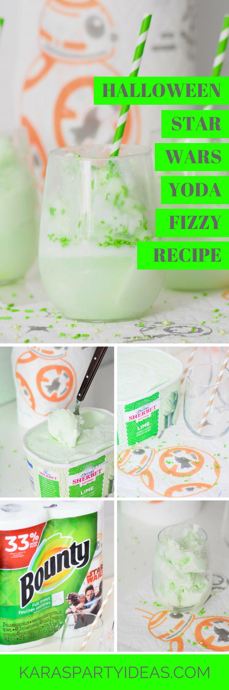 Halloween Star Wars Yoda Fizzy Recipe via Kara's Party Ideas - KarasPartyIdeas.com