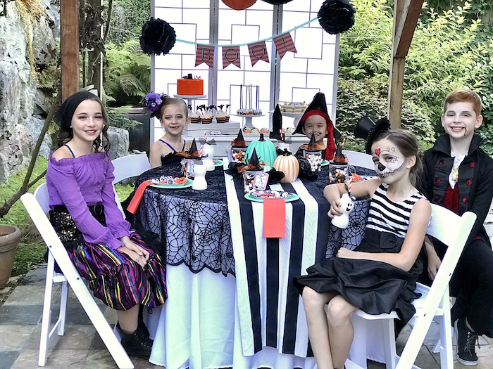 Halloween party guests from a Wickedly Sweet Halloween Costume Party on Kara's Party Ideas | KarasPartyIdeas.com (22)