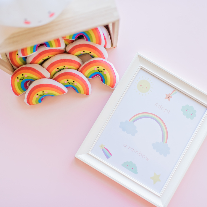 Rainbow favors from a Happy Clouds & Sunshine Birthday Party on Kara's Party Ideas | KarasPartyIdeas.com (17)
