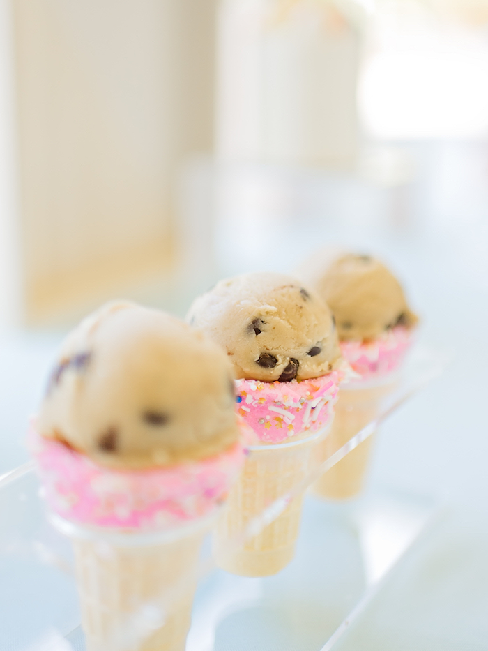 Cookie dough cones from a Happy Clouds & Sunshine Birthday Party on Kara's Party Ideas | KarasPartyIdeas.com (14)