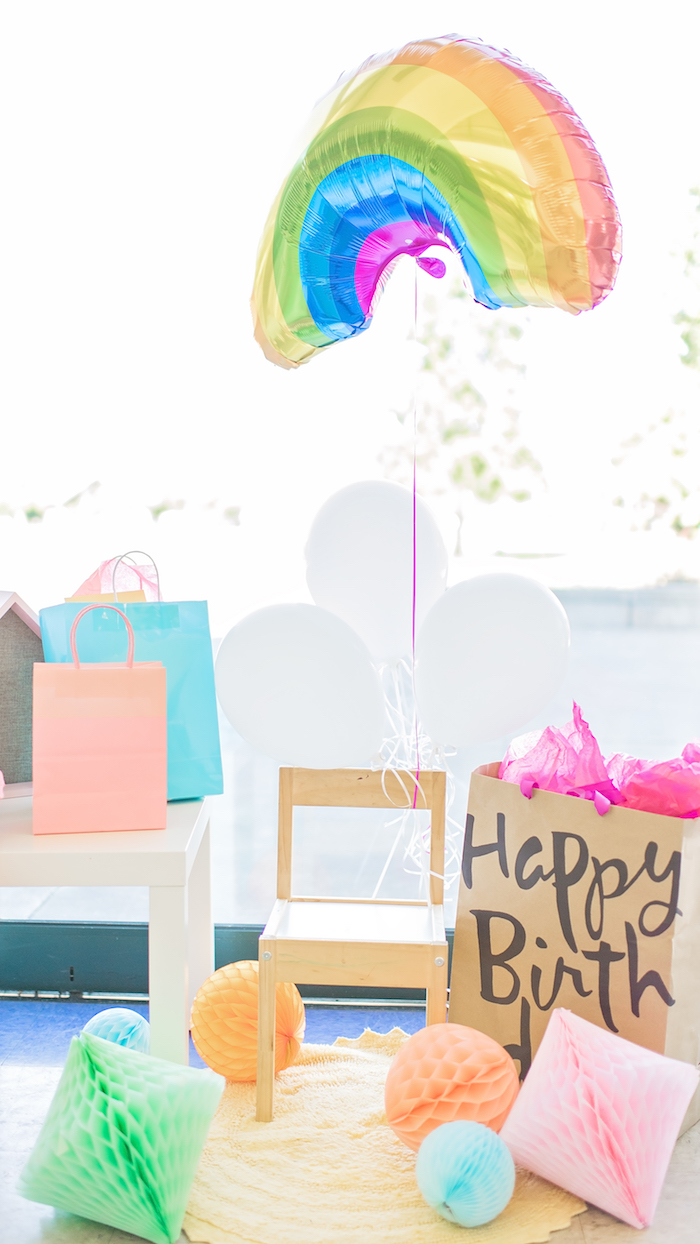 Happy Clouds & Sunshine Birthday Party on Kara's Party Ideas | KarasPartyIdeas.com (9)