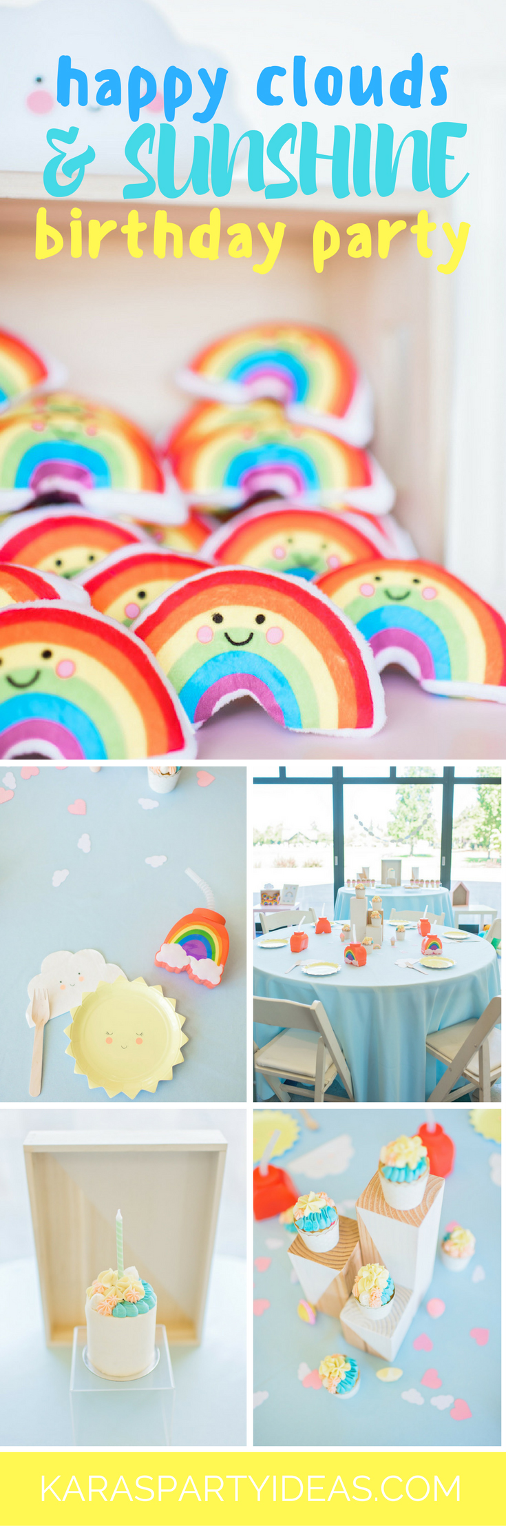 Happy Clouds and Sunshine Birthday Party via Kara's Party Ideas - KarasPartyIdeas.com