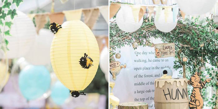 Hundred Acre Wood Birthday Party on Kara's Party Ideas | KarasPartyIdeas.com (6)