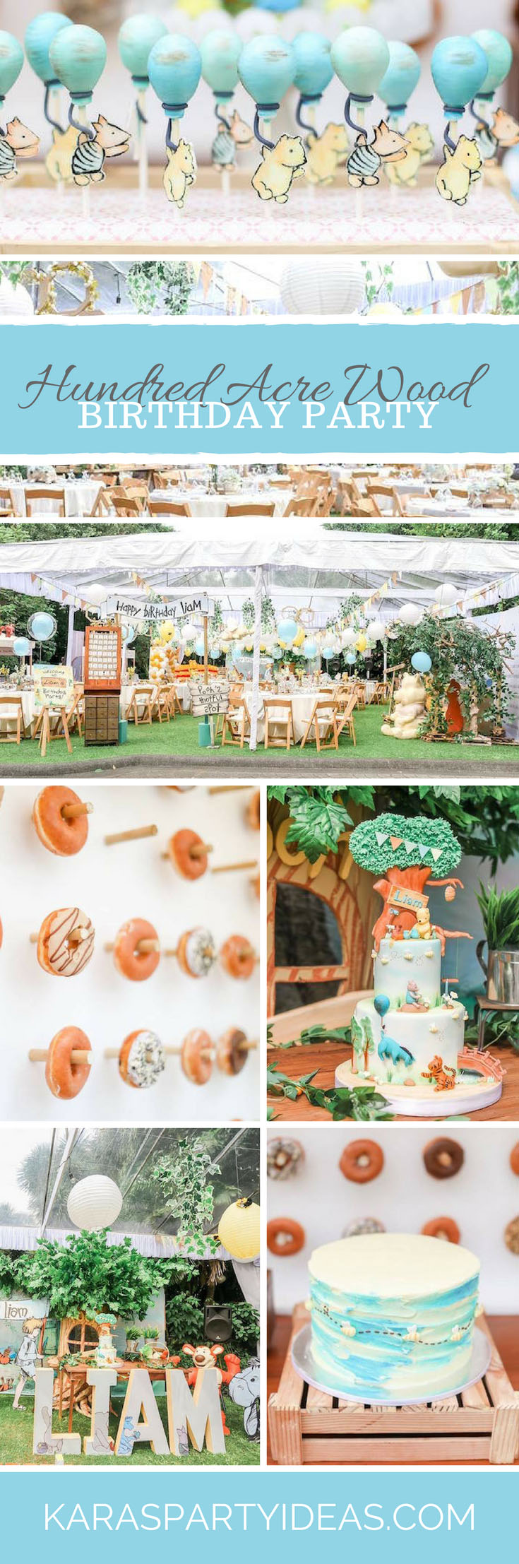 Hundred Acre Wood Birthday Party via Kara's Party Ideas - KarasPartyIdeas.com