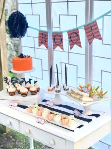Boo-licious party table from a Wickedly Sweet Halloween Costume Party on Kara's Party Ideas | KarasPartyIdeas.com (12)
