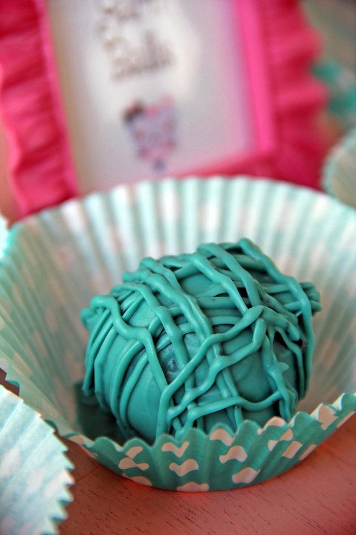 Yarn Ball Cake Pop from a Kitten Adoption Party on Kara's Party Ideas   KarasPartyIdeas.com (12)
