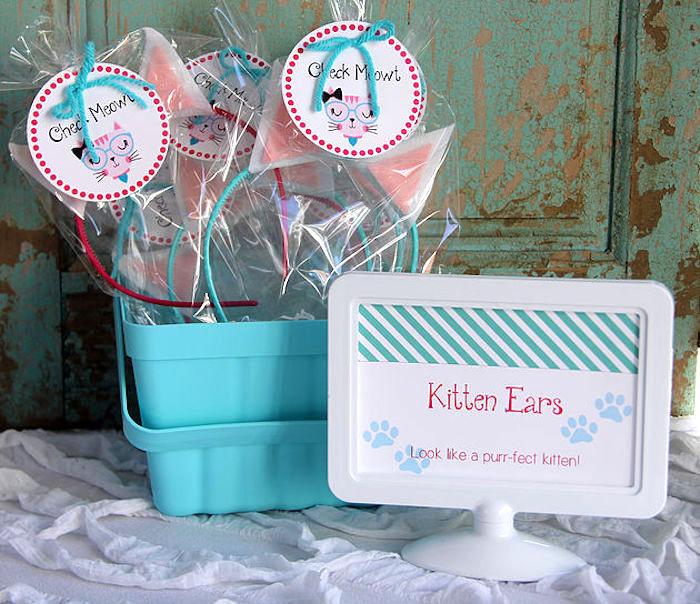 Kitten Ears from a Kitten Adoption Party on Kara's Party Ideas   KarasPartyIdeas.com (8)
