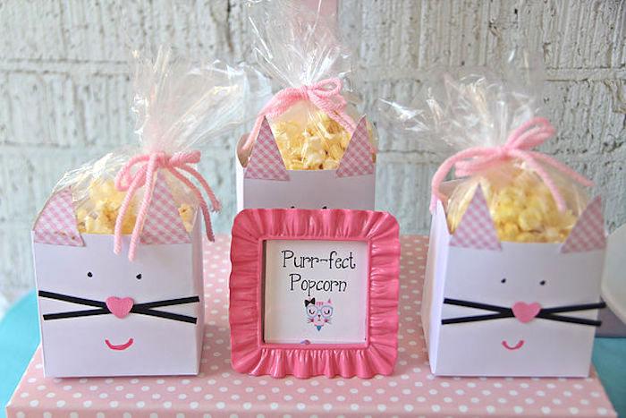 Purr-fect popcorn from a Kitten Adoption Party on Kara's Party Ideas   KarasPartyIdeas.com (7)