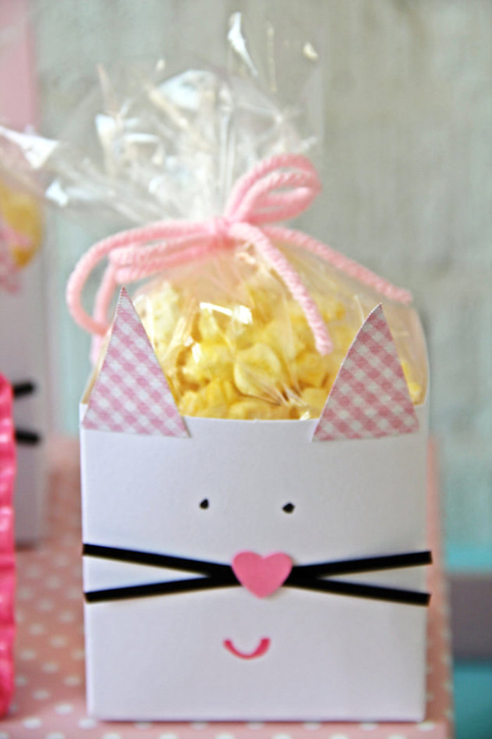 Purr-fect popcorn from a Kitten Adoption Party on Kara's Party Ideas   KarasPartyIdeas.com (6)