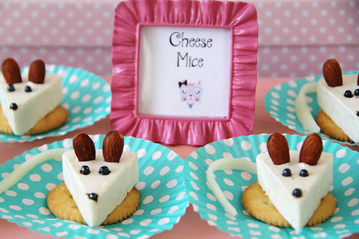 Featured Party Of the Week: Meow! Cheese Mice from a Kitten Adoption Party on Kara's Party Ideas | KarasPartyIdeas.com (22)