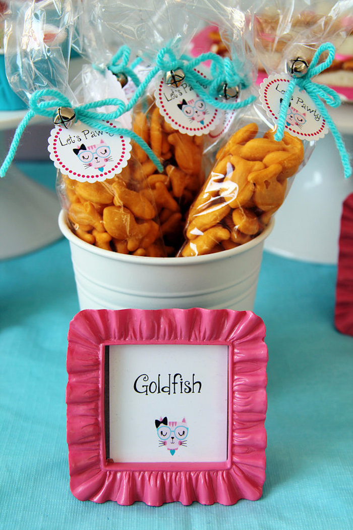 Goldfish snack bags from a Kitten Adoption Party on Kara's Party Ideas   KarasPartyIdeas.com (20)