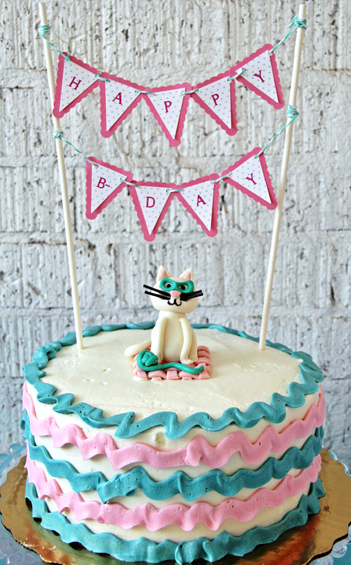 Cake from a Kitten Adoption Party on Kara's Party Ideas   KarasPartyIdeas.com (19)