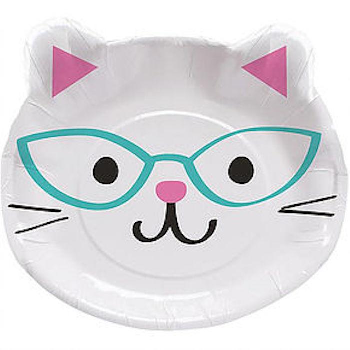 Kitten plates from a Kitten Adoption Party on Kara's Party Ideas   KarasPartyIdeas.com (16)