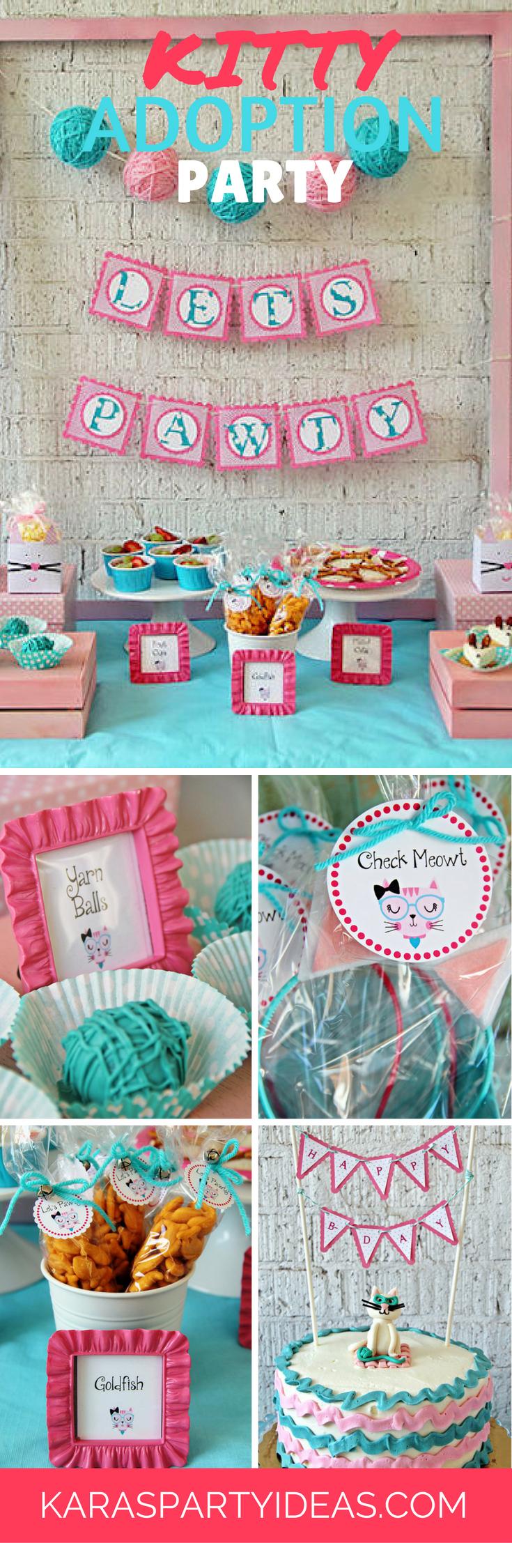 Tea time tea birthday party via kara s party ideas karaspartyideas com - Kitty Adoption Party Via Kara S Party Ideas Karaspartyideas Com