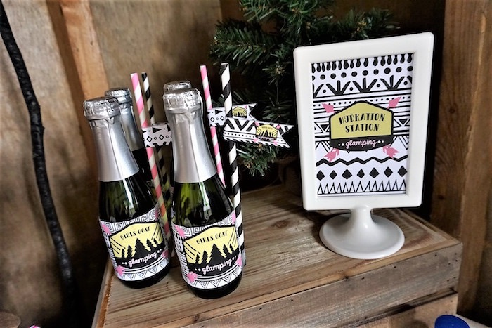 Ladies Night Glamping Party on Kara's Party Ideas | KarasPartyIdeas.com (19)
