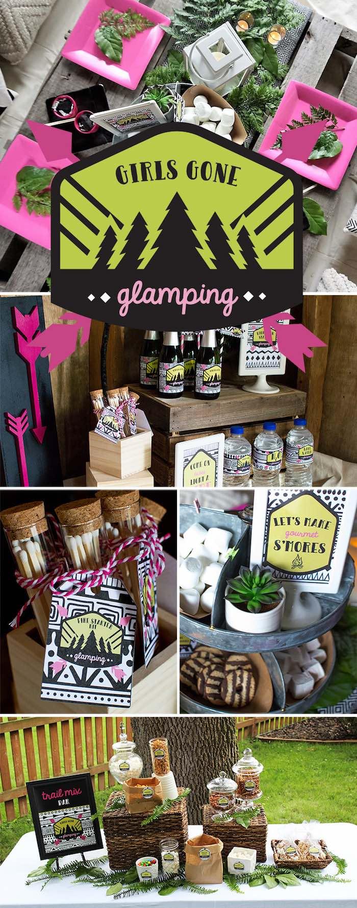 Ladies Night Glamping Party on Kara's Party Ideas | KarasPartyIdeas.com (32)