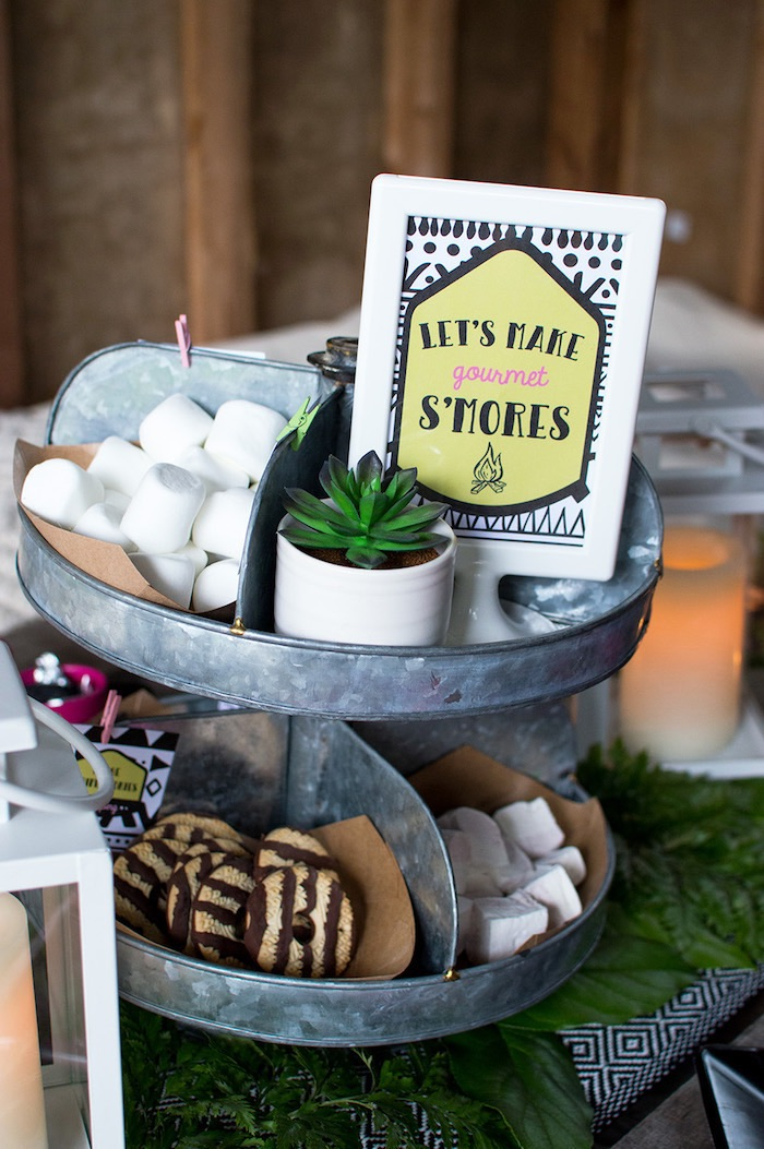 Ladies Night Glamping Party on Kara's Party Ideas | KarasPartyIdeas.com (13)