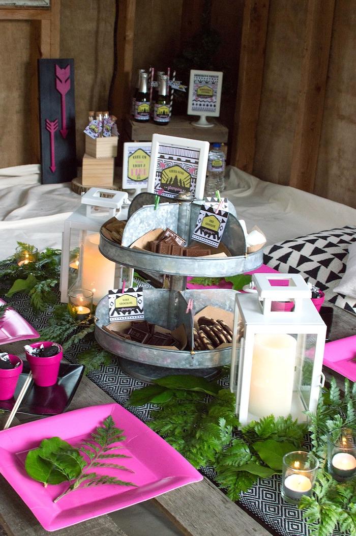 Ladies Night Glamping Party on Kara's Party Ideas | KarasPartyIdeas.com (29)