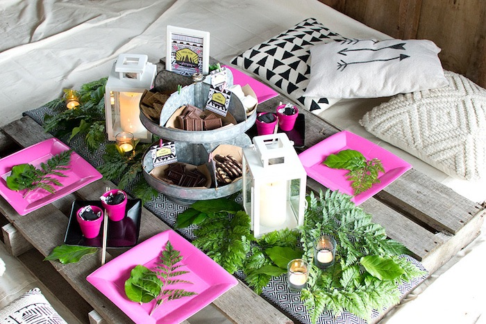 Ladies Night Glamping Party on Kara's Party Ideas | KarasPartyIdeas.com (28)