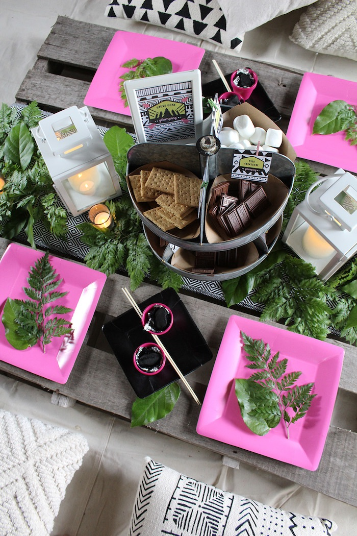 Ladies Night Glamping Party on Kara's Party Ideas | KarasPartyIdeas.com (25)