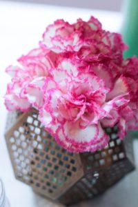 Flower centerpiece from a Little Elephant Baptism Celebration on Kara's Party Ideas | KarasPartyIdeas.com (16)