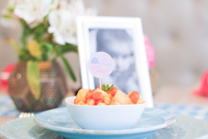 Fruit bowl from a Little Elephant Baptism Celebration on Kara's Party Ideas | KarasPartyIdeas.com (14)