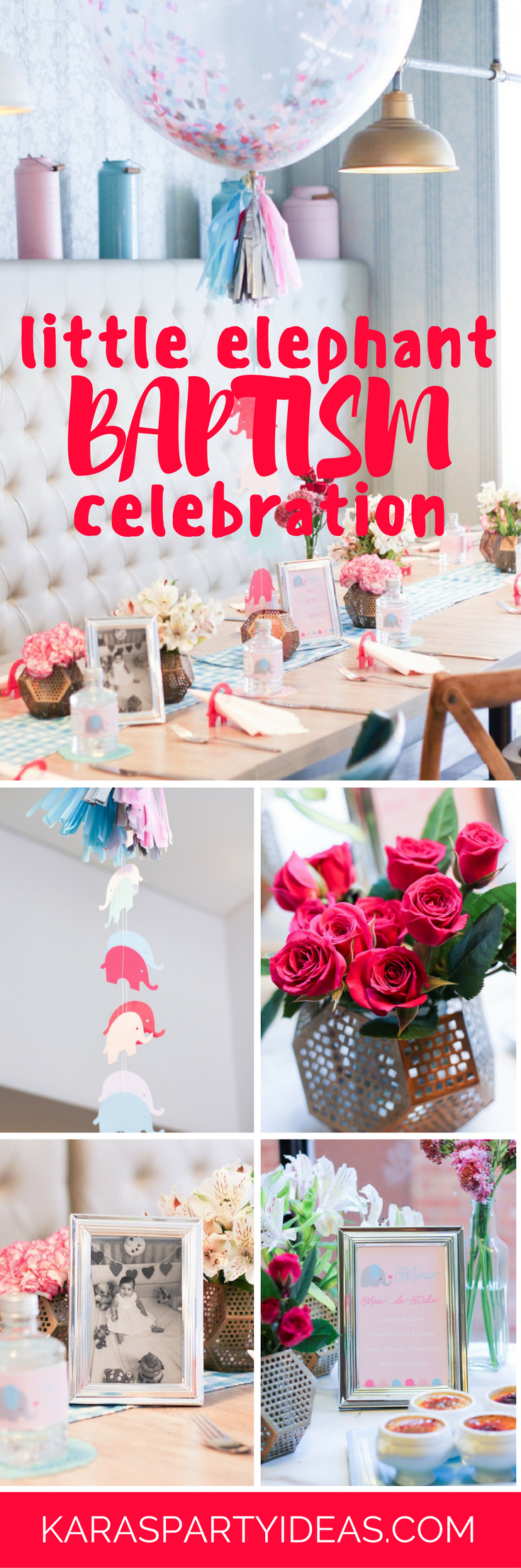 Little Elephant Baptism Celebration via Kara's Party Ideas - KarasPartyIdeas.com
