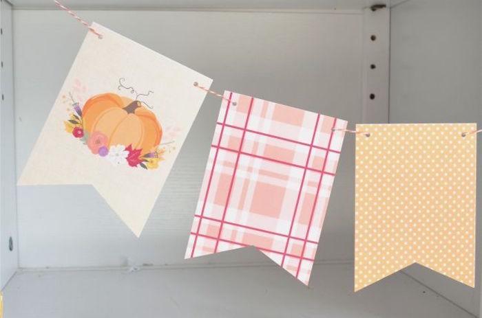 Fall Pumpkin Banner from a Little Pumpkin Fall Baby Shower on Kara's Party Ideas | KarasPartyIdeas.com (21)