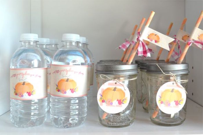 Drinks from a Little Pumpkin Fall Baby Shower on Kara's Party Ideas | KarasPartyIdeas.com (19)
