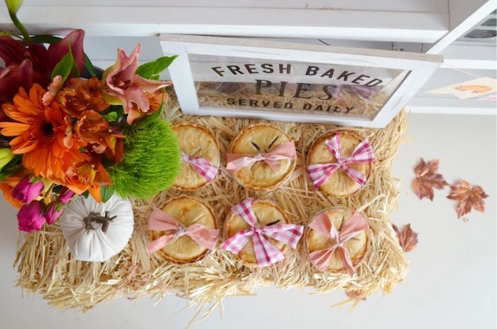 Mini pies from a Little Pumpkin Fall Baby Shower on Kara's Party Ideas | KarasPartyIdeas.com (17)